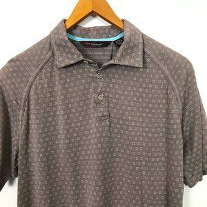 Tommy Bahama Golf 18 Short Sleeve Polo L Geometric